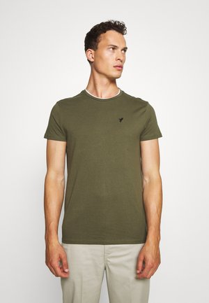 Jednoduché triko - oliv