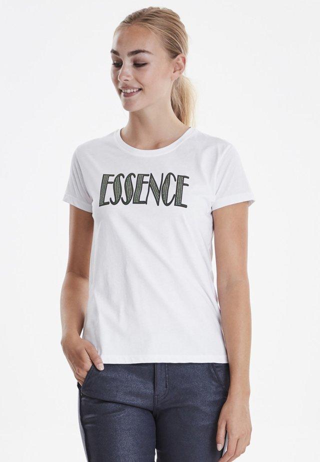 DRFIGARO - Print T-shirt - white