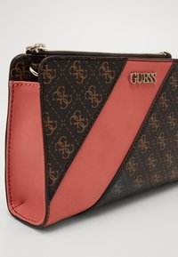 Guess - CAMY DOUBLE ZIP CROSSBODY - Across body bag - brown multi - 4