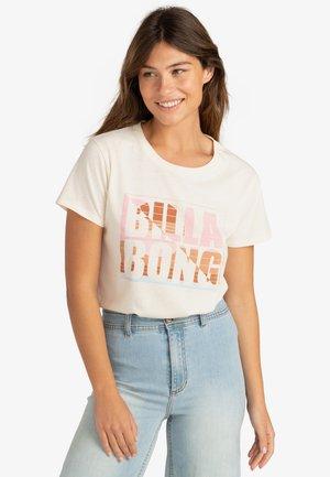 SUNSET BLOCK - T-shirt print - salt crystal