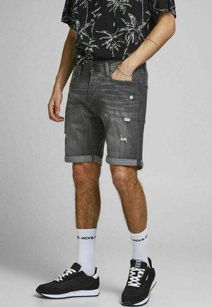 RICK ORIGINAL - Denim shorts - black denim