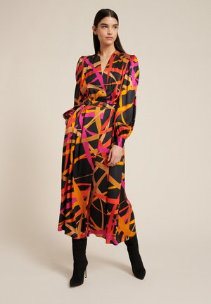 GAUTAMA - Denní šaty - var nero/arancio