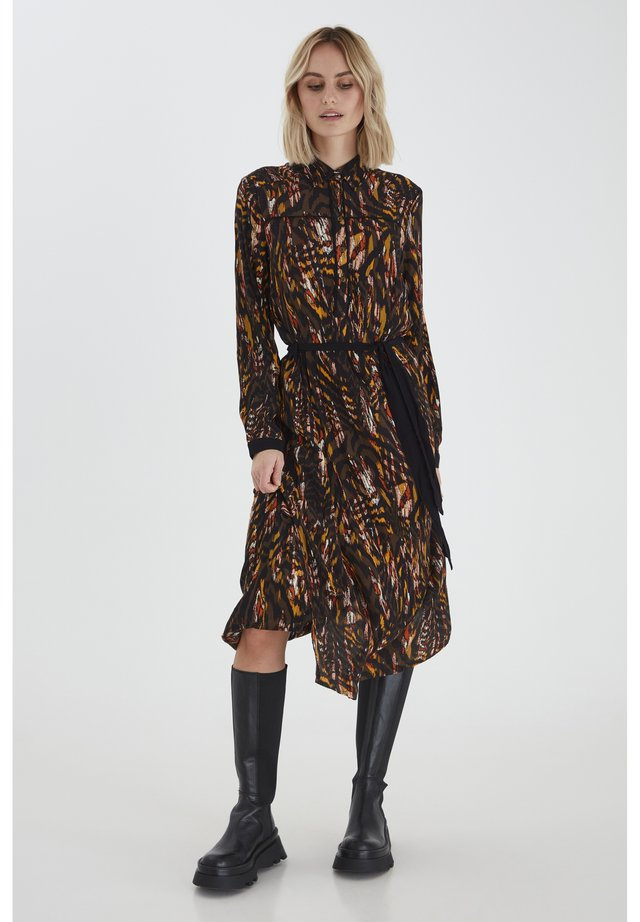 PZAUGUSTINA - Blousejurk - brown animal printed