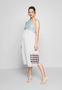 Maya Deluxe Maternity - ONE SHOULDER DELICATE  MIDI DRESS - Juhlamekko - ice blue - 1