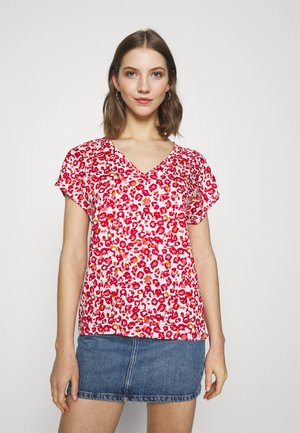 JDYCHAR  - Blouse - cloud dancer/red