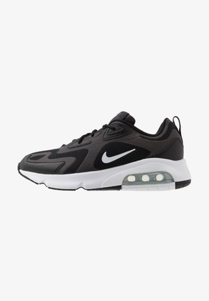 AIR MAX 200 - Trainers - black/white/off noir/metallic silver
