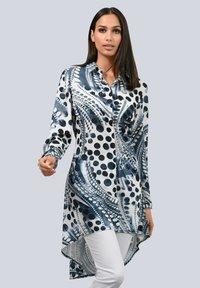 Alba Moda - Button-down blouse - marineblau/weiß/weiß - 0