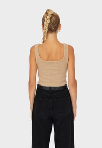 Stradivarius - Top - beige - 2