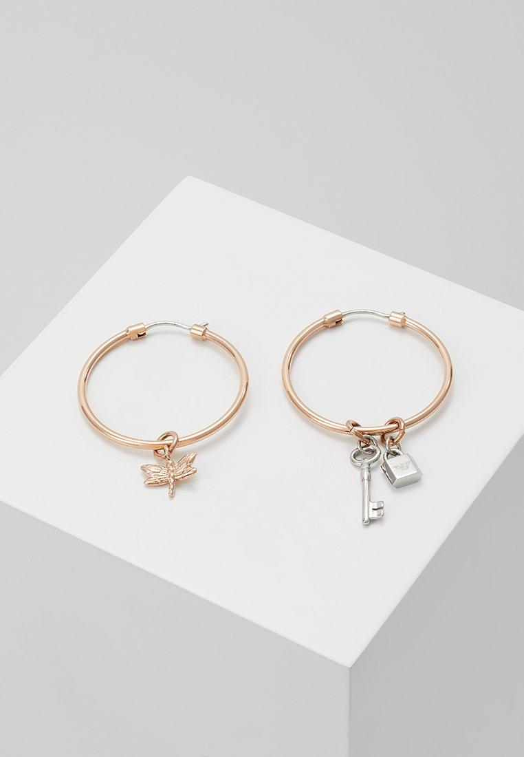 Emporio Armani - Örhänge - roségold-coloured/silver-coloured