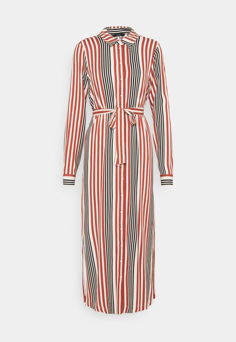 Vero Moda - VMNIVA DRESS - Shirt dress - chutney/black/birch