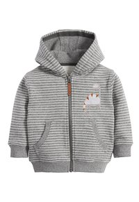 Next - DINO APPLIQU - Zip-up hoodie - grey - 0