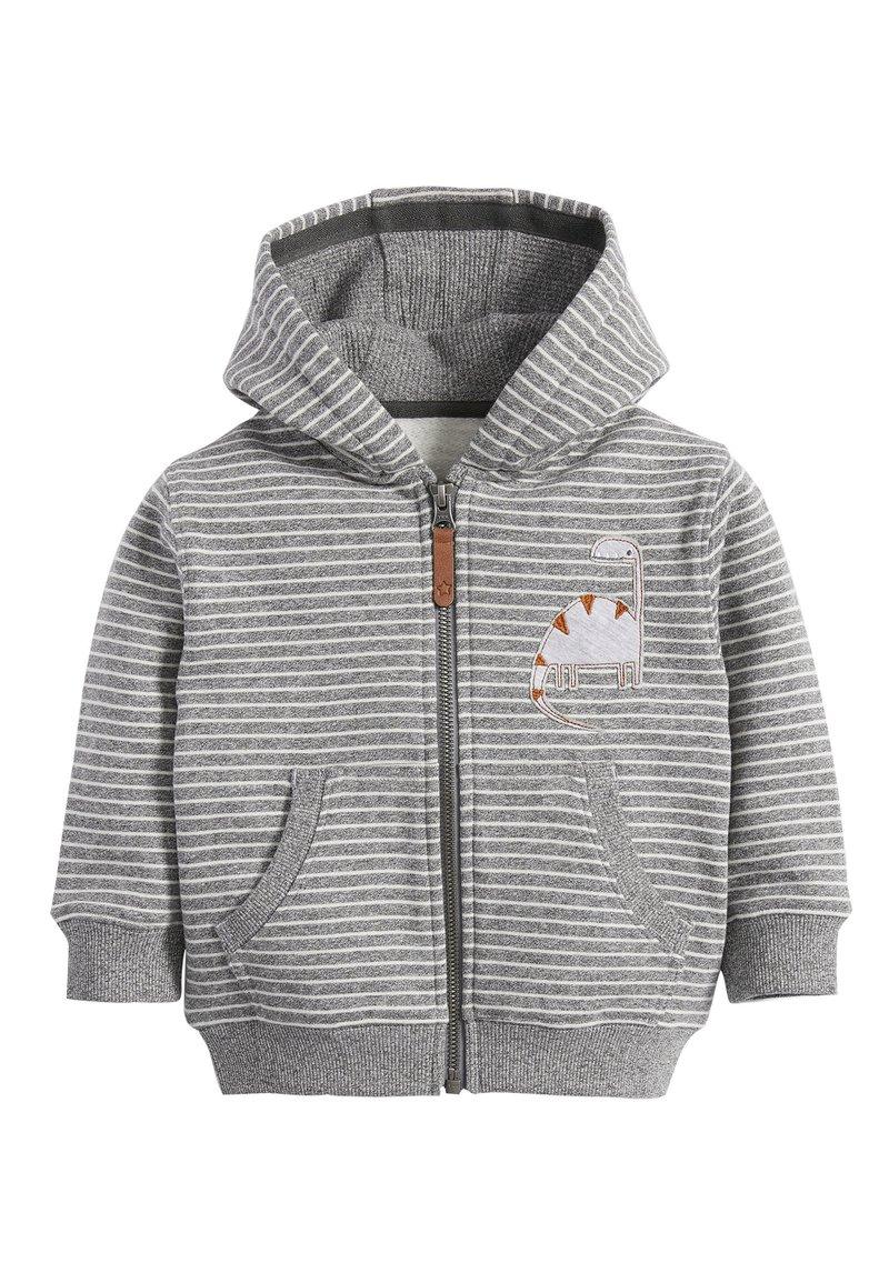 Next - DINO APPLIQU - Zip-up hoodie - grey