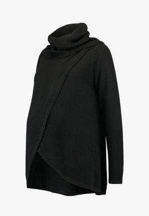 COWL NECK NURSING - Trui - black