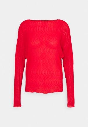 ALINA BLOUSE - Camiseta de manga larga - fiery red