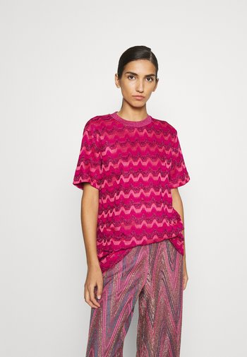 Print T-shirt - hot pink