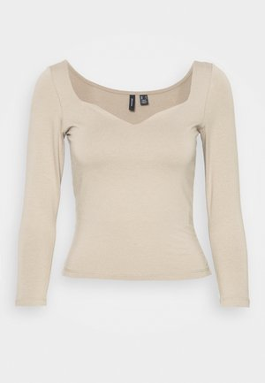 VMPANDA SWEETHEART - Long sleeved top - silver mink