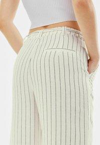 Bershka - Trousers - off-white - 3