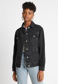 Topshop - SEAM - Denim jacket - washed black - 0