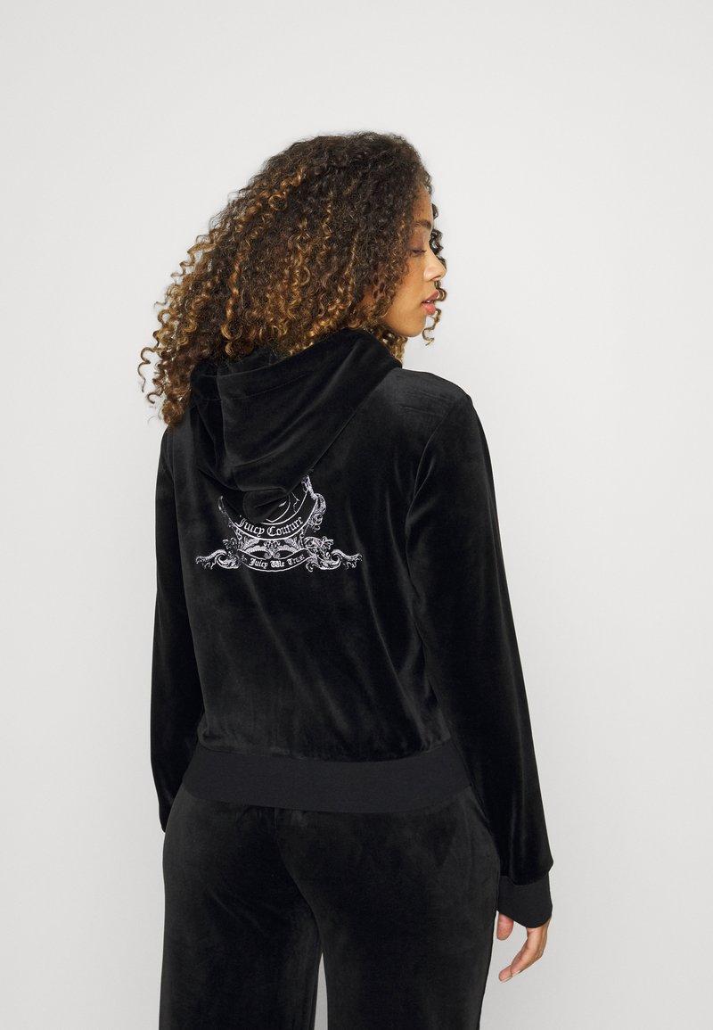 Juicy Couture - ANNIVERSARY CREST  HOODIE - Sweat à capuche zippé - black