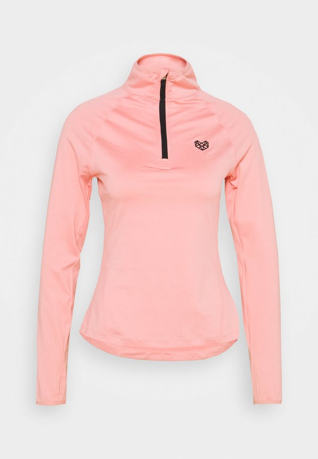 ENCINO HALF ZIP - Sports shirt - pink
