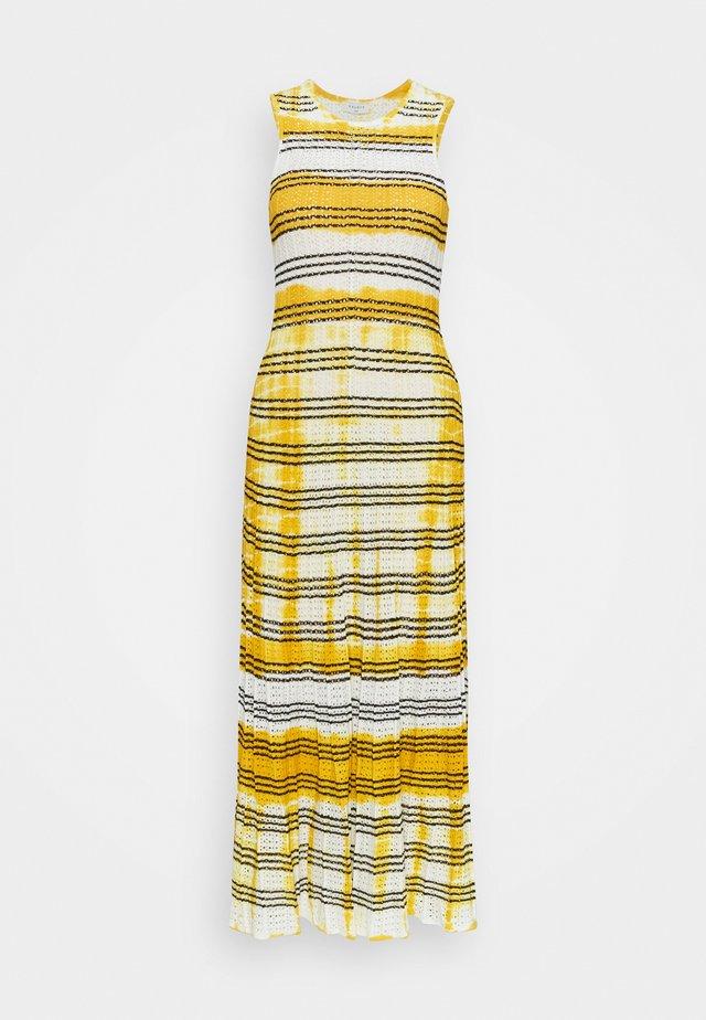 JULIE - Sukienka dzianinowa - ecru/jaune