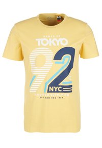 s.Oliver - FRONTPRINT - Print T-shirt - yellow - 0