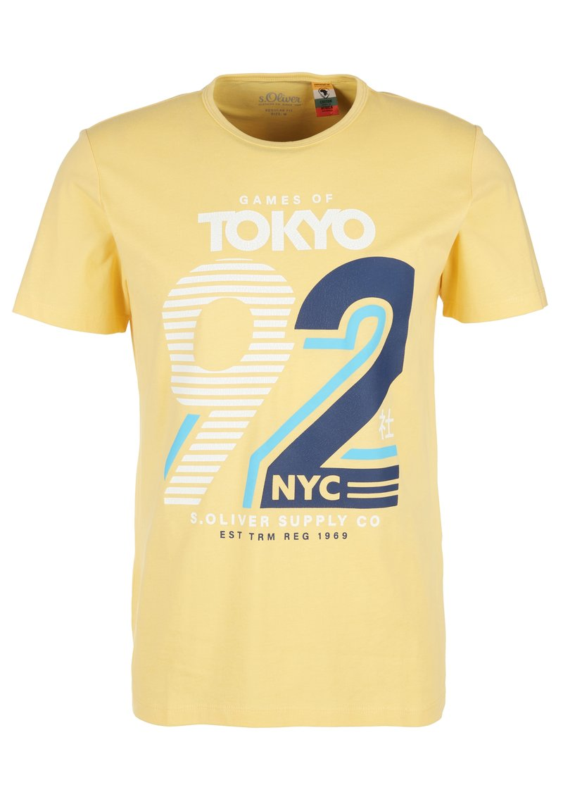 s.Oliver - FRONTPRINT - Print T-shirt - yellow