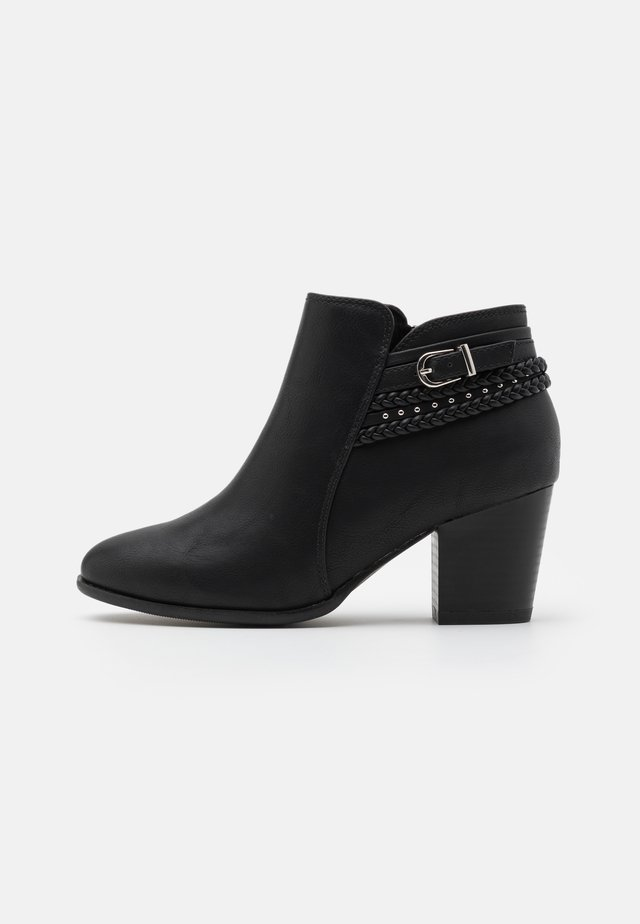 WIDE FIT WHAM - Boots à talons - black