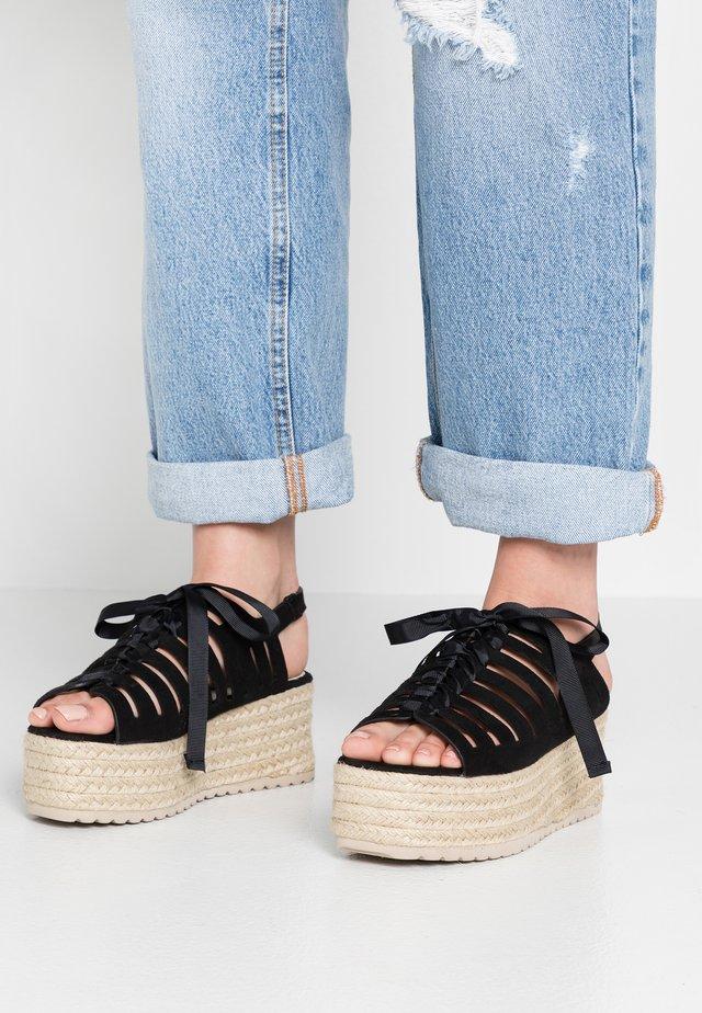 ARIS - Platform sandals - noir