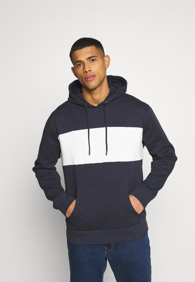 CUT SEW PANEL HOODY UNISEX - Sweat à capuche - dark blue