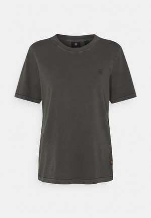 REGULAR FIT TEE OVERDYED - T-shirts - raven