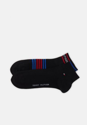 MEN QUARTER BRETON STRIPE 2 PACK - Socks - black