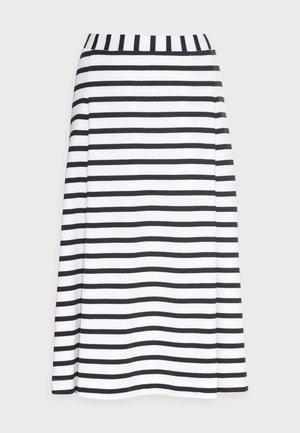JERSEY SKIRT - A-line skirt - multi/dark blue