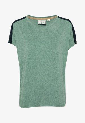 THE 0909 - Print T-shirt - grünmeliert
