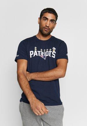 NFL SNOOPY TEE NEW ENGLAND PATRIOTS - Club wear - dark blue