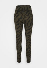 Casall - ICONIC PRINTED 7/8 - Tights - escape green - 1