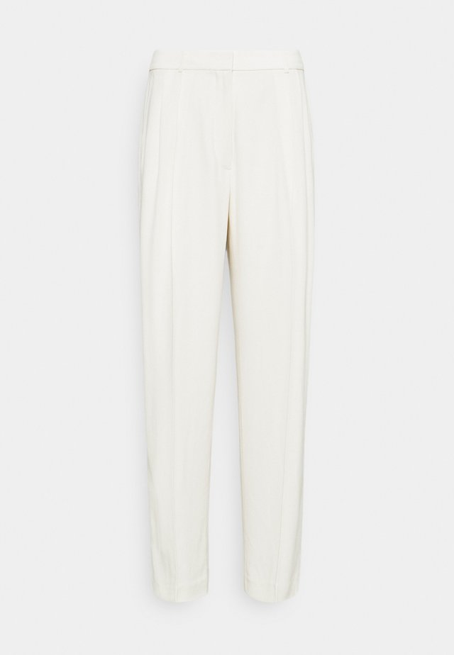 TUXEDO TROUSER - Spodnie materiałowe - egret