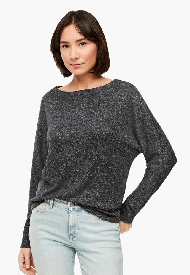 Long sleeved top - dark grey