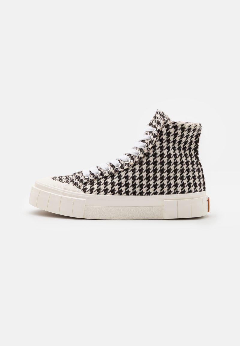 Good News - PALM CHECK - Baskets montantes - black/white