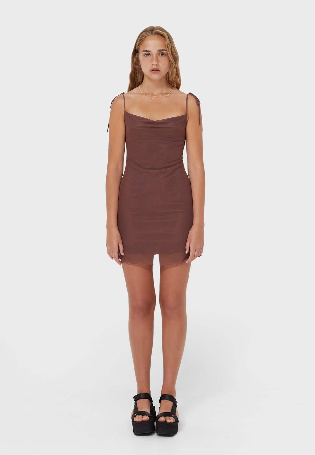 Damen MESH IN LINGERIE-OPTIK  - Cocktailkleid/festliches Kleid