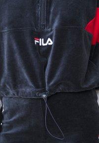 Fila Petite - BELLINI CROPPED HALF ZIP - Bluza - black iris/true red/bright white - 5