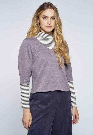 Sweater - mottled dark purple