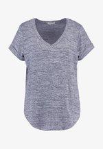 KARLY SLEEVE V NECK - T-shirt basic - greys twist