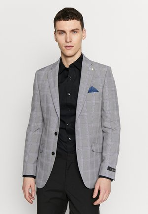 GRAPHIC CHECK - Suit jacket - grey