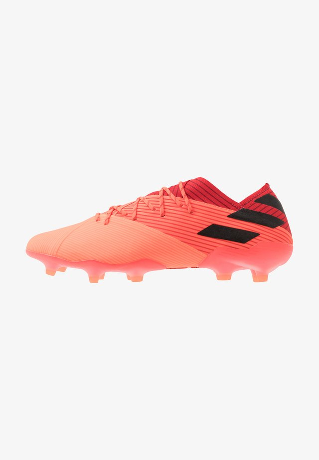NEMEZIZ 19.1 FG - Chaussures de foot à crampons - signal coral/core black/red
