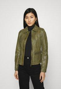 Oakwood - IOTA - Leather jacket - khaki - 0