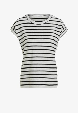 Print T-shirt - camel black