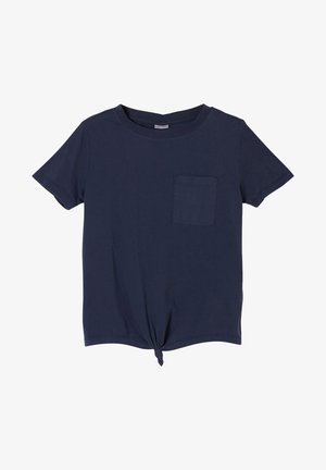 MIT KNOTENDETAIL - Print T-shirt - dark blue