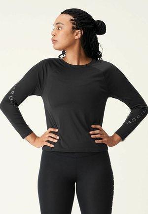 ACTIVE LOGO  - Long sleeved top - black