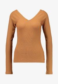 Vero Moda - VMKATE V NECK - Long sleeved top - tobacco brown - 3